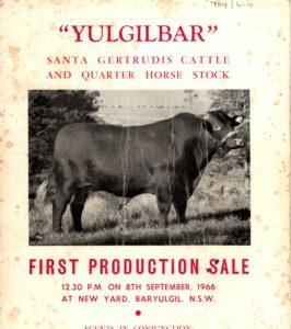 Yulgilbar First Production Sale Catalogue
